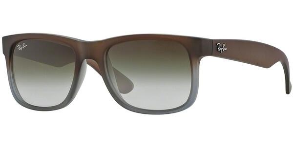 Sluneční brýle Ray-Ban® model 4165, barva obruby hnědá mat šedá, čočka zelená gradál, kód barevné varianty 8547Z.