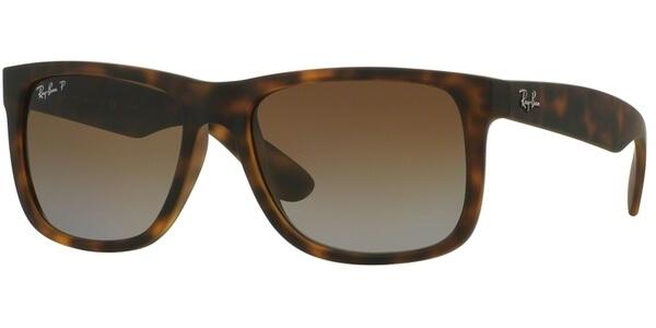 Sluneční brýle Ray-Ban® model 4165, barva obruby hnědá mat, čočka hnědá gradál polarizovaná, kód barevné varianty 865T5.