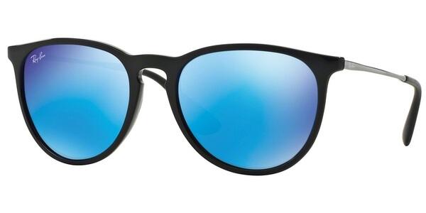 Sluneční brýle Ray-Ban® model 4171, barva obruby černá lesk stříbrná, čočka modrá zrcadlo, kód barevné varianty 60155.