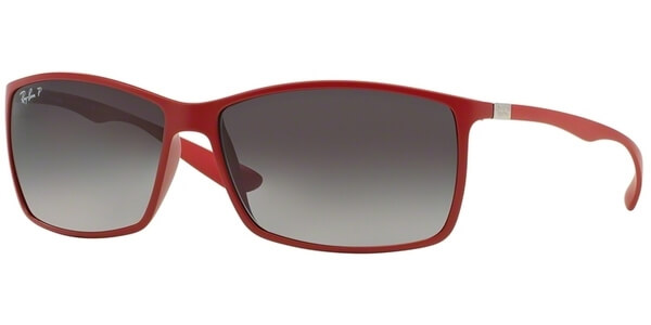 Sluneční brýle Ray-Ban® model 4179, barva obruby červená mat, čočka šedá gradál polarizovaná, kód barevné varianty 6123T3.