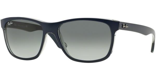 Sluneční brýle Ray-Ban® model 4181, barva obruby modrá mat čirá, čočka šedá gradál, kód barevné varianty 613671.