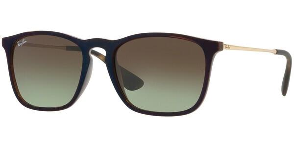 Sluneční brýle Ray-Ban® model 4187, barva obruby hnědá lesk zlatá, čočka zelená gradál, kód barevné varianty 6315E8.