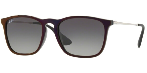 Sluneční brýle Ray-Ban® model 4187, barva obruby černá lesk červená, čočka šedá gradál, kód barevné varianty 631611.