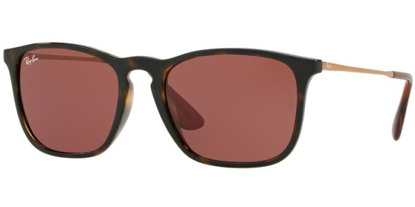 Sluneční brýle Ray-Ban® model 4187, barva obruby hnědá lesk zlatá, čočka červená, kód barevné varianty 639175.