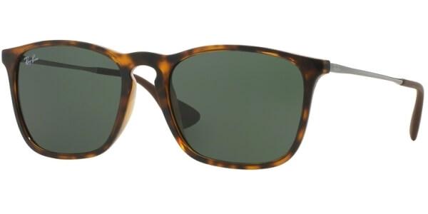 Sluneční brýle Ray-Ban® model 4187, barva obruby hnědá lesk šedá, čočka zelená, kód barevné varianty 71071.