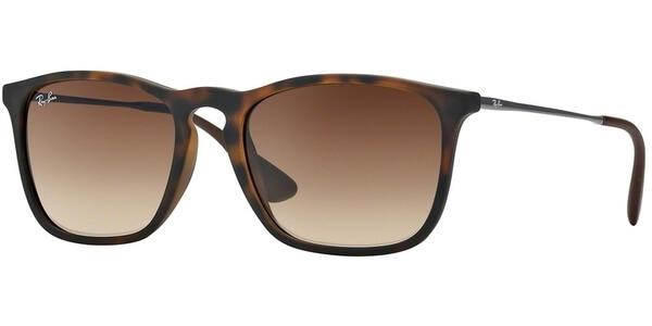 Sluneční brýle Ray-Ban® model 4187, barva obruby hnědá mat stříbrná, čočka hnědá gradál, kód barevné varianty 85613.