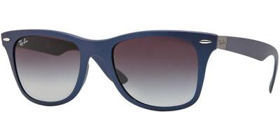 Sluneční brýle Ray-Ban® model 4195, barva obruby modrá mat, čočka šedá gradál, kód barevné varianty 60158G.