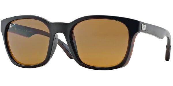 Sluneční brýle Ray-Ban® model 4197, barva obruby hnědá lesk, čočka hnědá polarizovaná, kód barevné varianty 71483.