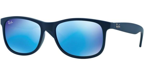 Sluneční brýle Ray-Ban® model 4202, barva obruby modrá mat, čočka modrá zrcadlo, kód barevné varianty 615355.