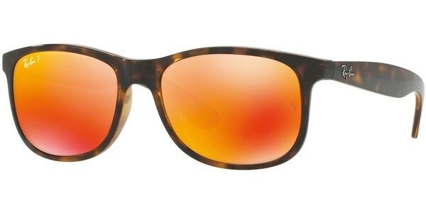 Sluneční brýle Ray-Ban® model 4202, barva obruby hnědá lesk, čočka oranžová zrcadlo polarizovaná, kód barevné varianty 7106S.