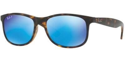 Sluneční brýle Ray-Ban® model 4202, barva obruby hnědá lesk, čočka modrá zrcadlo polarizovaná, kód barevné varianty 7109R.