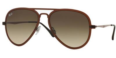 Sluneční brýle Ray-Ban® model 4211, barva obruby hnědá mat bronzová, čočka hnědá gradál, kód barevné varianty 612213.