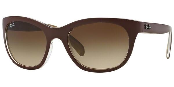 Sluneční brýle Ray-Ban® model 4216, barva obruby vínová mat hnědá, čočka hnědá gradál, kód barevné varianty 619313.