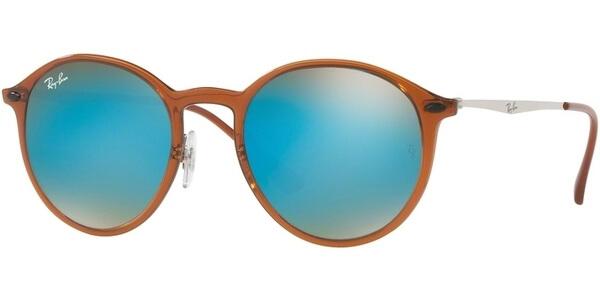 Sluneční brýle Ray-Ban® model 4224, barva obruby hnědá lesk stříbrná, čočka modrá zrcadlo gradál, kód barevné varianty 604B7.