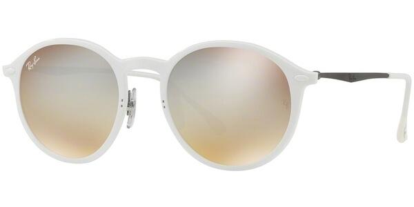 Sluneční brýle Ray-Ban® model 4224, barva obruby bílá mat stříbrná, čočka stříbrná zrcadlo gradál, kód barevné varianty 671B8.