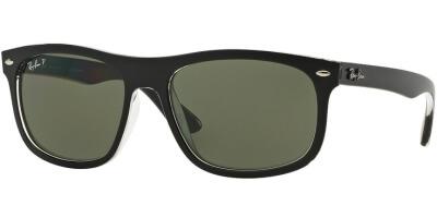 Sluneční brýle Ray-Ban® model 4226, barva obruby černá mat čirá, čočka zelená polarizovaná, kód barevné varianty 60529A.