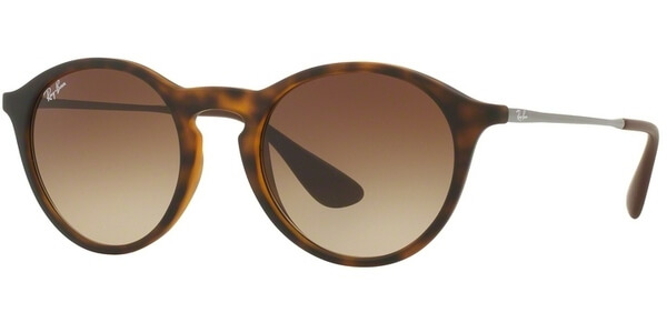 Sluneční brýle Ray-Ban® model 4243, barva obruby hnědá mat stříbrná, čočka hnědá gradál, kód barevné varianty 86513.