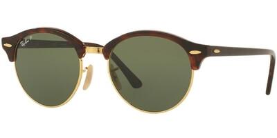 Sluneční brýle Ray-Ban® model 4246, barva obruby hnědá lesk zlatá, čočka zelená polarizovaná, kód barevné varianty 99058.