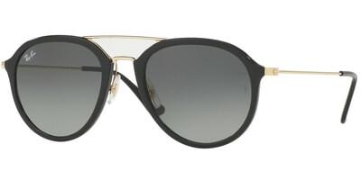 Sluneční brýle Ray-Ban® model 4253, barva obruby černá lesk zlatá, čočka šedá gradál, kód barevné varianty 60171.