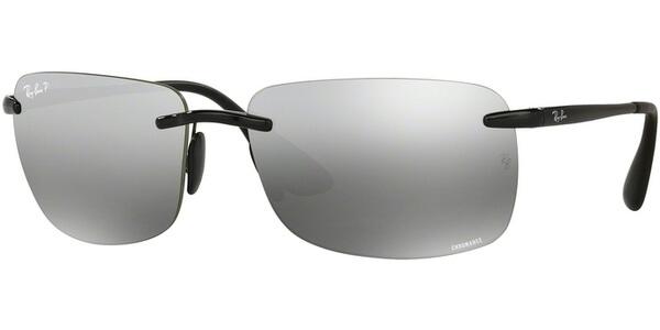 Sluneční brýle Ray-Ban® model 4255, barva obruby černá lesk, čočka stříbrná zrcadlo polarizovaná, kód barevné varianty 6015J.