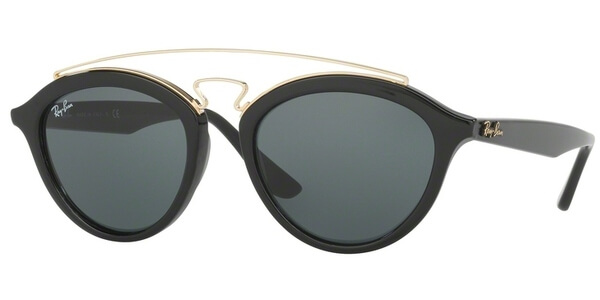 Sluneční brýle Ray-Ban® model 4257, barva obruby černá lesk zlatá, čočka zelená, kód barevné varianty 60171.