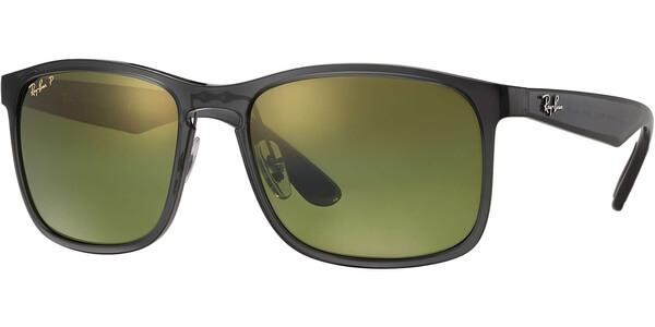 Sluneční brýle Ray-Ban® model 4264, barva obruby šedá lesk, čočka zelená zrcadlo polarizovaná, kód barevné varianty 8766O.