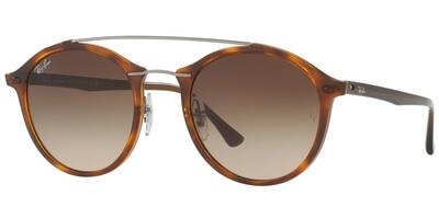 Sluneční brýle Ray-Ban® model 4266, barva obruby hnědá lesk stříbrná, čočka hnědá gradál, kód barevné varianty 620113.