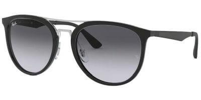Sluneční brýle Ray-Ban® model 4285, barva obruby černá lesk stříbrná, čočka šedá gradál, kód barevné varianty 6018G.