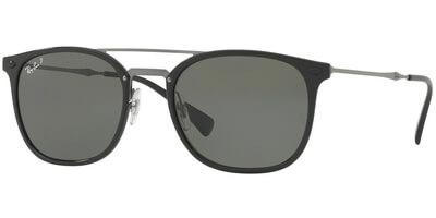 Sluneční brýle Ray-Ban® model 4286, barva obruby černá lesk šedá, čočka zelená polarizovaná, kód barevné varianty 6019A.