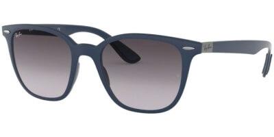 Sluneční brýle Ray-Ban® model 4297, barva obruby modrá mat, čočka šedá gradál, kód barevné varianty 63318G.