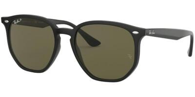 Sluneční brýle Ray-Ban® model 4306, barva obruby černá lesk, čočka zelená polarizovaná, kód barevné varianty 6019A.