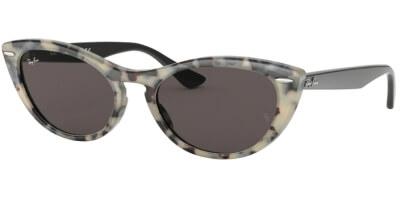 Sluneční brýle Ray-Ban® model 4314N, barva obruby hnědá lesk šedá, čočka zlatá zrcadlo, kód barevné varianty 125139.