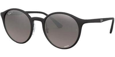 Sluneční brýle Ray-Ban® model 4336CH, barva obruby černá mat, čočka stříbrná zrcadlo polarizovaná, kód barevné varianty 601S5J.