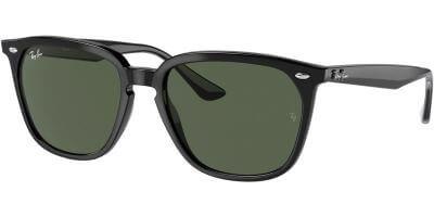 Sluneční brýle Ray-Ban® model 4362, barva obruby černá lesk, čočka zelená, kód barevné varianty 60171.