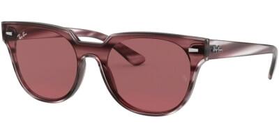 Sluneční brýle Ray-Ban® model 4368N, barva obruby červená lesk čirá, čočka červená, kód barevné varianty 643175.