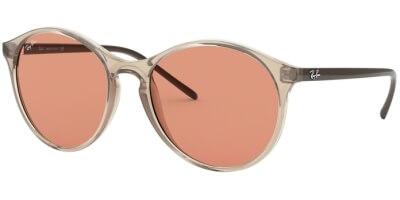 Sluneční brýle Ray-Ban® model 4371, barva obruby žlutá lesk hnědá, čočka oranžová, kód barevné varianty 640374.