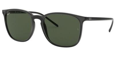 Sluneční brýle Ray-Ban® model 4387, barva obruby černá lesk, čočka zelená, kód barevné varianty 60171.