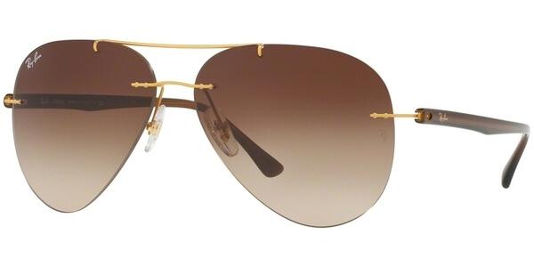 Sluneční brýle Ray-Ban® model 8058, barva obruby zlatá mat hnědá, čočka hnědá gradál, kód barevné varianty 15713.