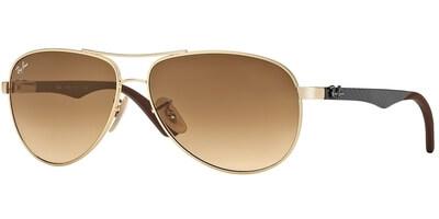 Sluneční brýle Ray-Ban® model 8313, barva obruby zlatá lesk hnědá, čočka hnědá gradál, kód barevné varianty 00151.