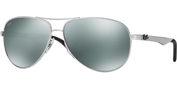 Sluneční brýle Ray-Ban® model 8313, barva obruby stříbrná lesk, čočka šedá zrcadlo, kód barevné varianty 00340.
