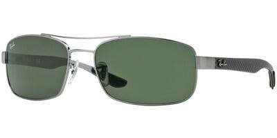 Sluneční brýle Ray-Ban® model 8316, barva obruby stříbrná lesk šedá, čočka zelená, kód barevné varianty 004.