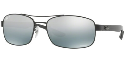 Sluneční brýle Ray-Ban® model 8318CH, barva obruby černá lesk, čočka šedá zrcadlo gradál polarizovaná, kód barevné varianty 0025L.