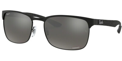 Sluneční brýle Ray-Ban® model 8319CH, barva obruby černá mat, čočka šedá zrcadlo gradál polarizovaná, kód barevné varianty 1865J.