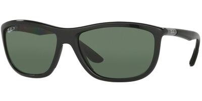 Sluneční brýle Ray-Ban® model 8351, barva obruby černá lesk šedá, čočka zelená polarizovaná, kód barevné varianty 62199A.