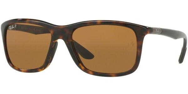 Sluneční brýle Ray-Ban® model 8352, barva obruby hnědá lesk šedá, čočka hnědá polarizovaná, kód barevné varianty 622183.