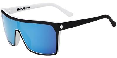 Sluneční brýle SPY model FLYNN, barva obruby černá mat bílá, čočka modrá zrcadlo, kód barevné varianty 809131.