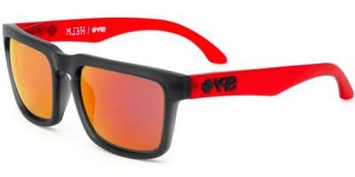 Sluneční brýle SPY model HELM, barva obruby šedá mat červená, čočka červená zrcadlo, kód barevné varianty 094130.