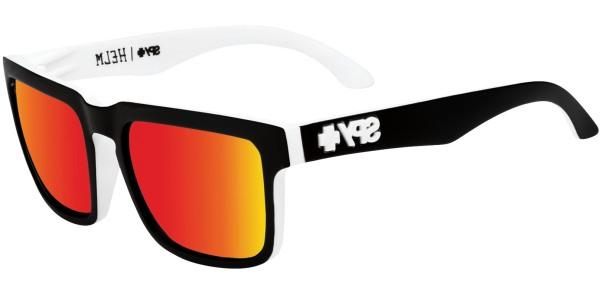 Sluneční brýle SPY model HELM, barva obruby černá mat bílá, čočka červená zrcadlo, kód barevné varianty 209365.