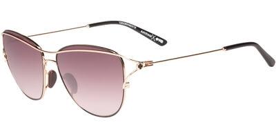 Sluneční brýle SPY model MARINA, barva obruby zlatá mat černá, čočka vínová gradál, kód barevné varianty 063357.