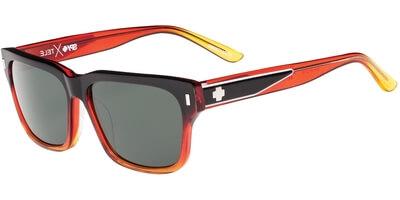 Sluneční brýle SPY model TELE, barva obruby černá lesk červená, čočka zelená polarizovaná, kód barevné varianty 720863.
